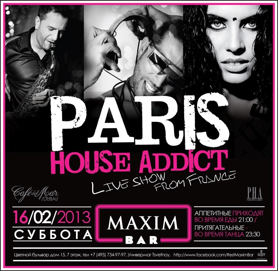 House Addic flyers - pha - paris house addict